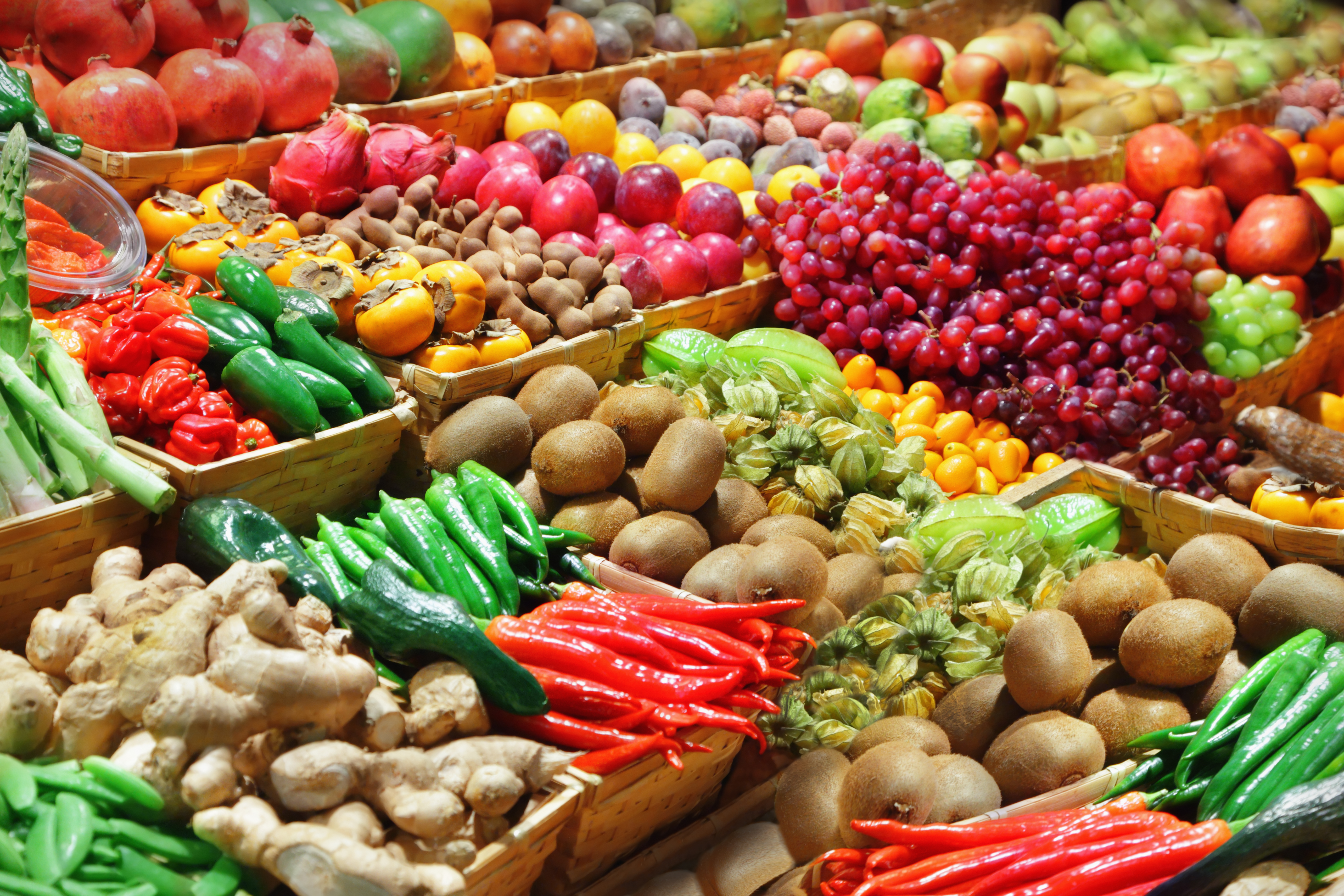 Fresh produce in supermarkets everywhere